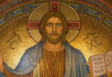 A catholic painting that is supposed to show that Jesus is not God