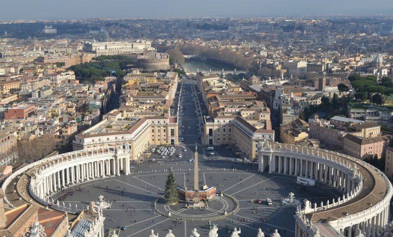 Der Vatikan von oben in dem der Papst lebt