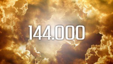 Die Zahl 144.000 aus der Bibel im Himmel