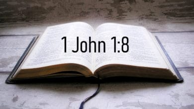 A Bible with the Bible verse 1 John 1:8