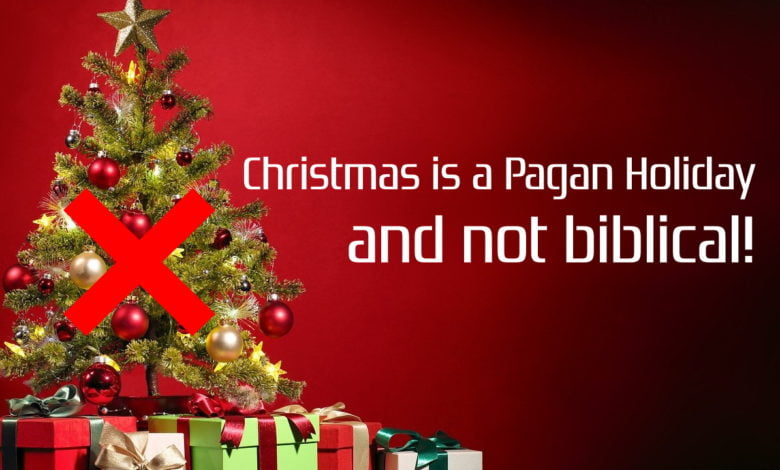 A Christmas tree, that shows that Christmas is a pagan holiday and not biblical